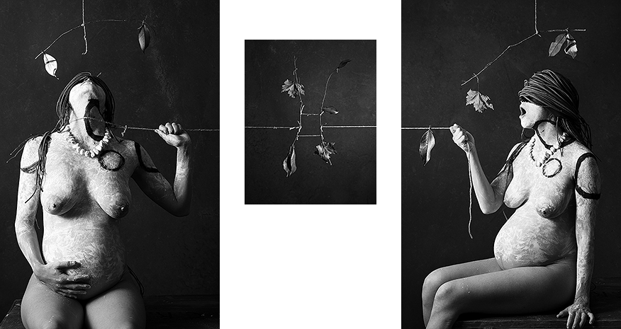 String triptych II: drag, equilibrium, pull